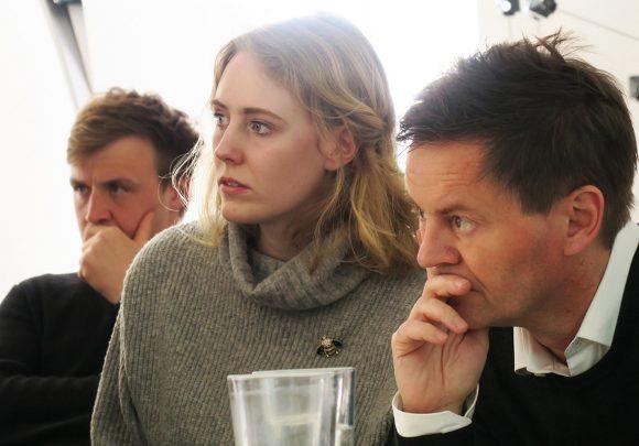 Dirk von Meer beim Vortrag von 22quadrat im Büro von sehw architektur.