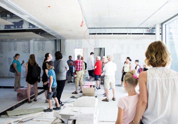 Baustelle des Clusters der Grundschule am Jungfernsee, Potsdam, im Rahmen des Tags der Architektur 2019 in Berlin.