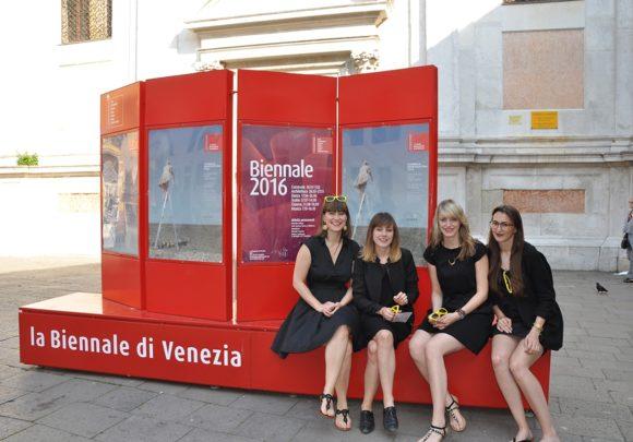 Das Team von sehw architektur auf der Biennale 2016 in Venedig.