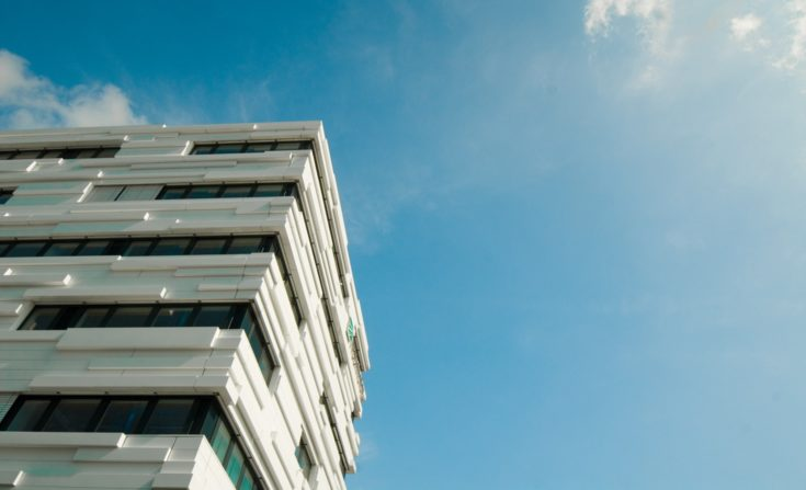 Fassade des Fraunhofer-Institut für Sichere Informationstechnologie, SIT, in Darmstadt.