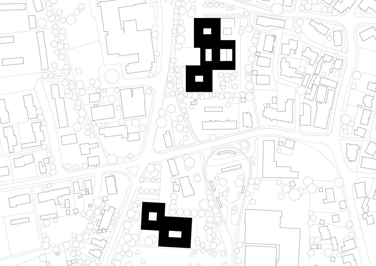 Lageplan der Martin-Niemöller-Gesamtschule in Bielefeld.