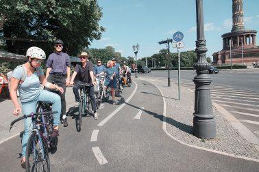 Das Team von sehw architektur bei der Radtour durch Berlin, im Rahmen des sehw sommerfestes 2019.