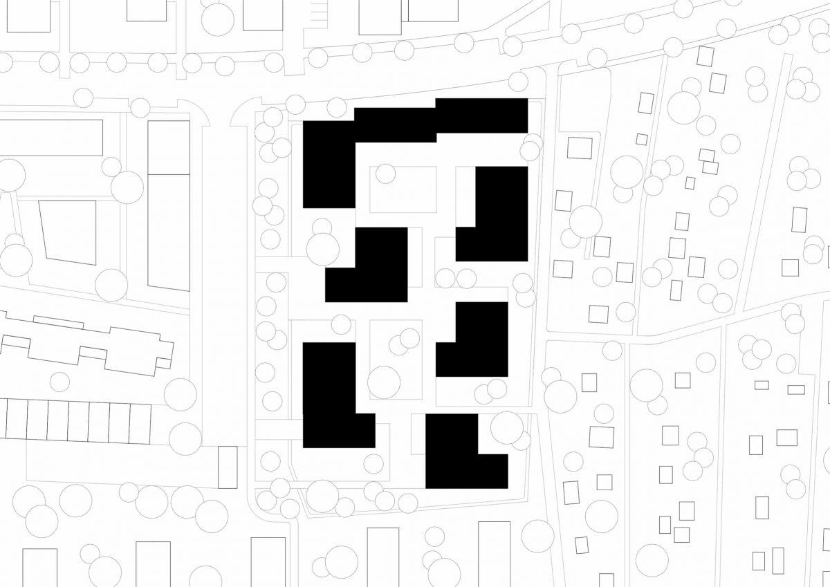 Lageplan des Studentenwohnheims Avenariusstraße in Nürnberg.