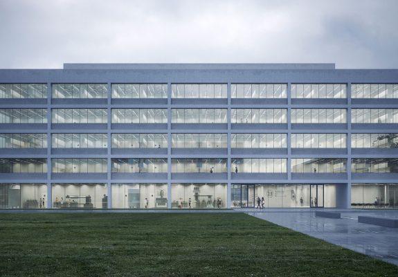 Vorplatz des Neubaus des Instituts der Physik in Braunschweig.