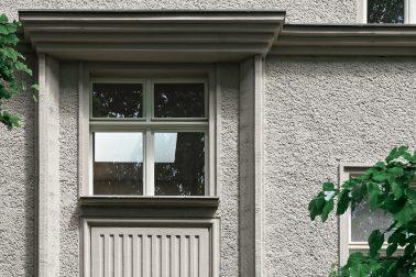 Historische Fassade der Kita Wirbelwind in Berlin.