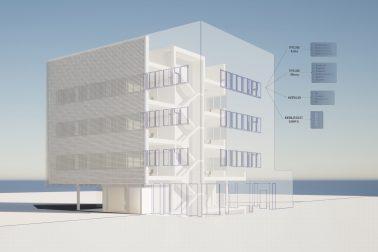 BIM Rendering von Sehw Architektur.