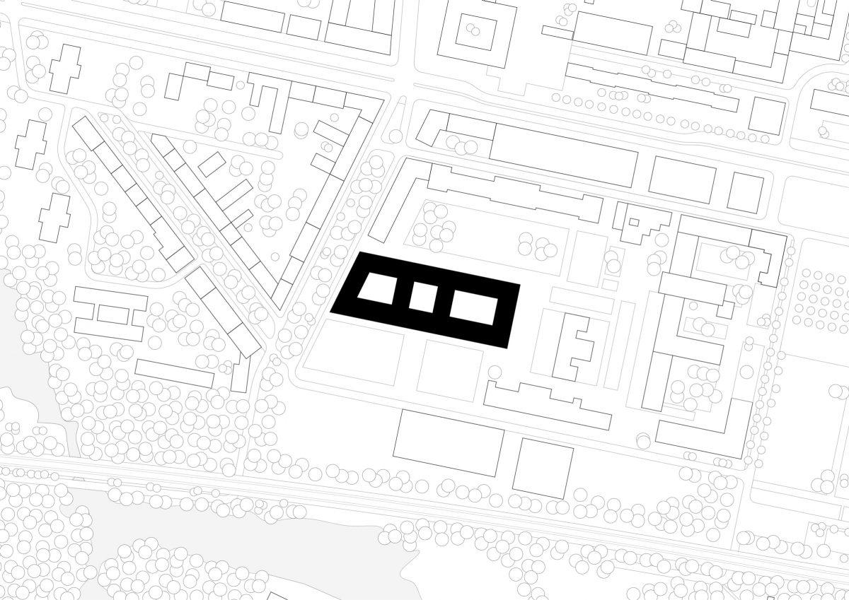 Lageplan des Neubaus der zwei Landesministerien in Potsdam.