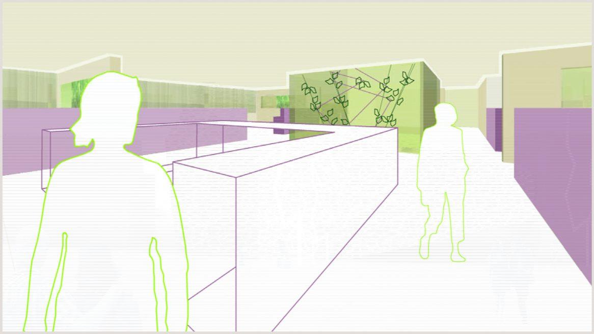 3D-Visualisierung des Projekts Kav Dialysezentrum in Wien.