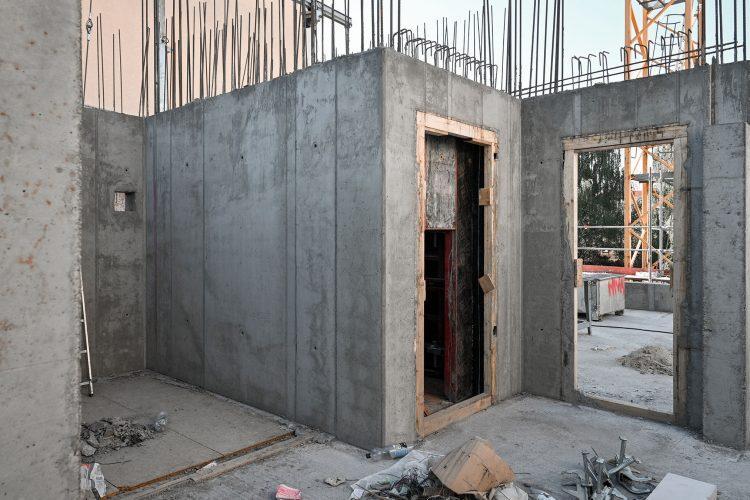 Baustelle des Wohnhauses in Alt-Reinickendorf 54 Berlin.