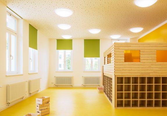 Gruppenraum der Kindertagesstätte der historischen Villa an der Charite in Berlin.