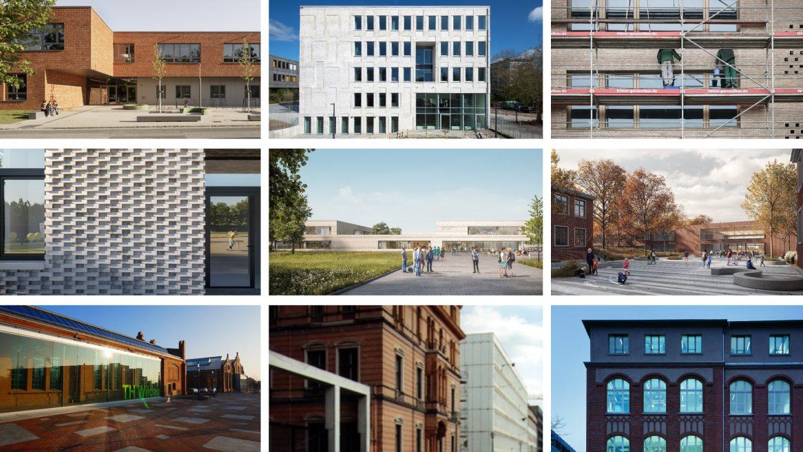 Verschiedene Fassaden aus den Projekten von Sehw Architektur.