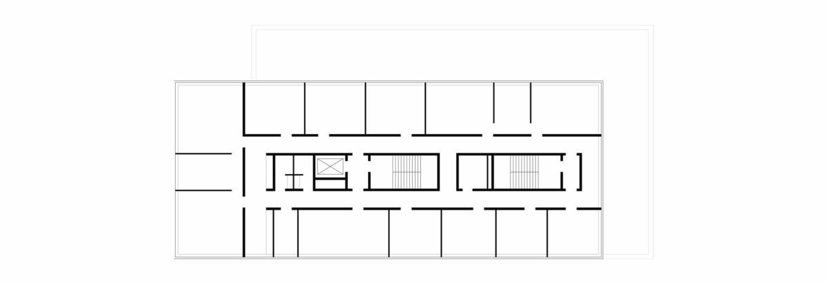 Grundriss des Neubaus des Fraunhofer-Centers für Maritime Logistik und Dienstleistungen in Hamburg.