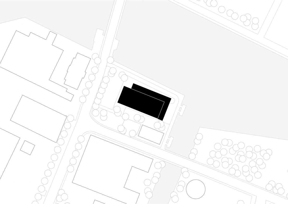 Lageplan des Neubaus des Fraunhofer-Centers für Maritime Logistik und Dienstleistungen in Hamburg.