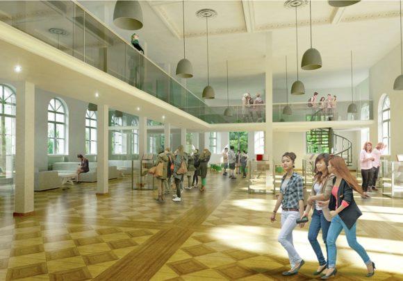 Offene Lernlandschaft des Altbaus des Georg-Eckert-Instituts in Braunschweig.