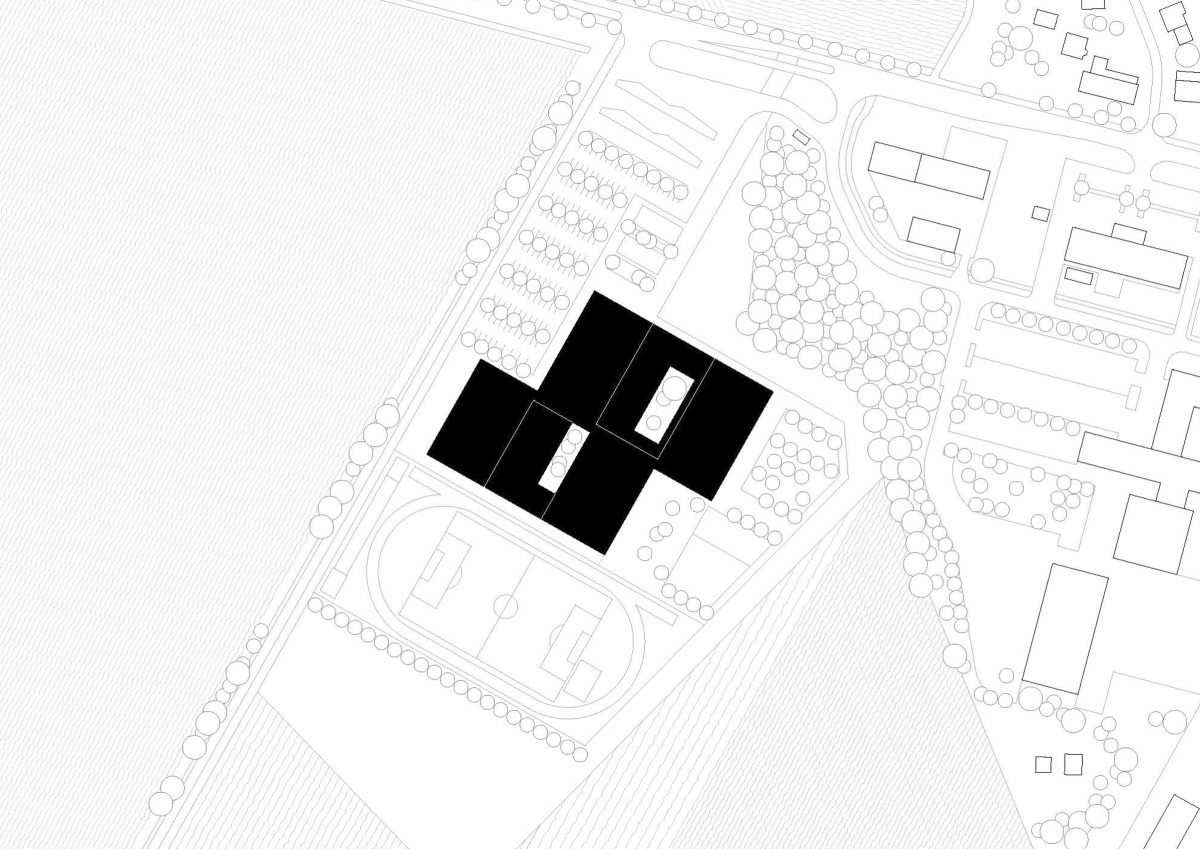 Lageplan der neuen Gesamtschule Kolkwitz.