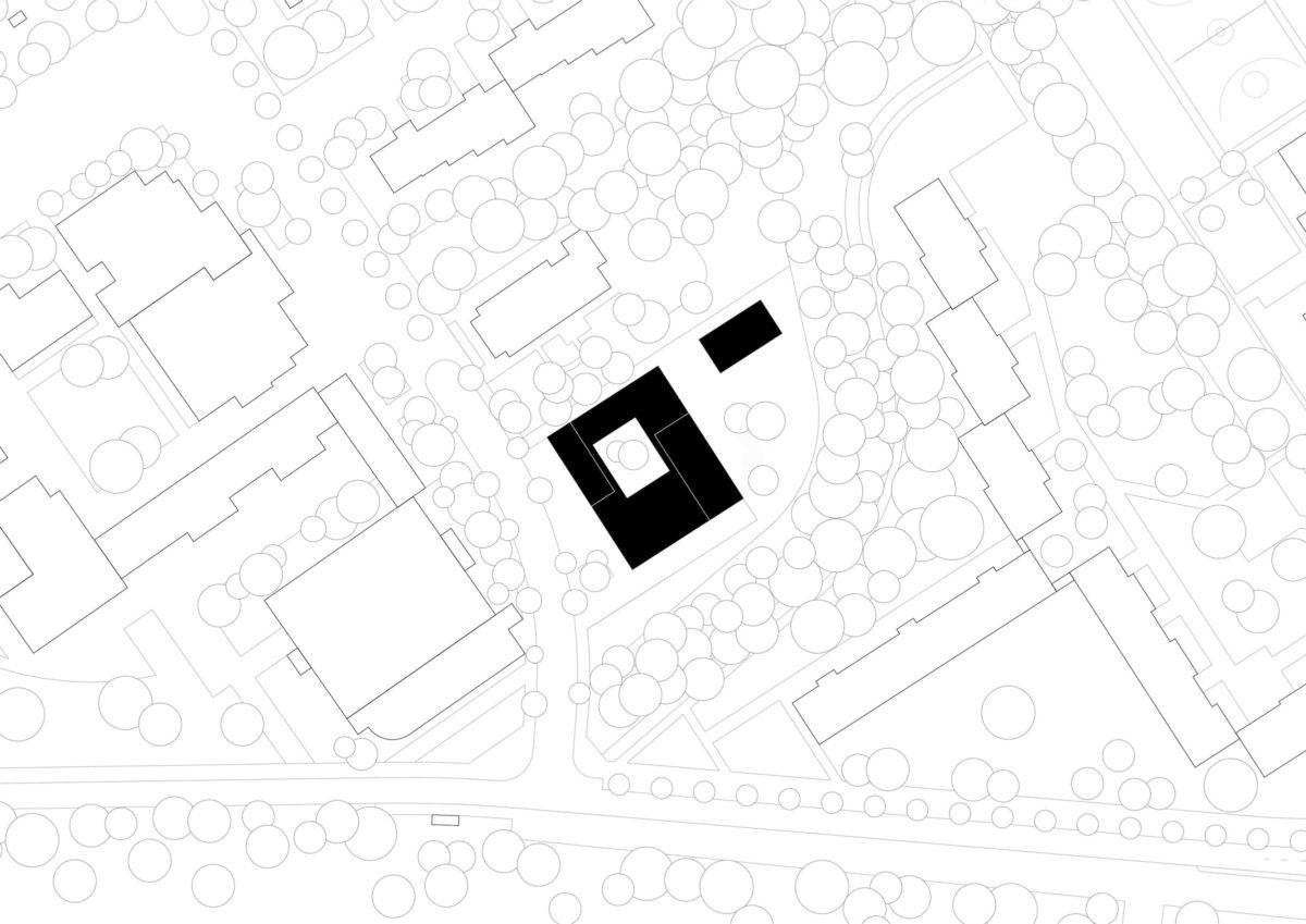 Lageplan des Gemeindezentrum Petrus-Giesendorf in Berlin.