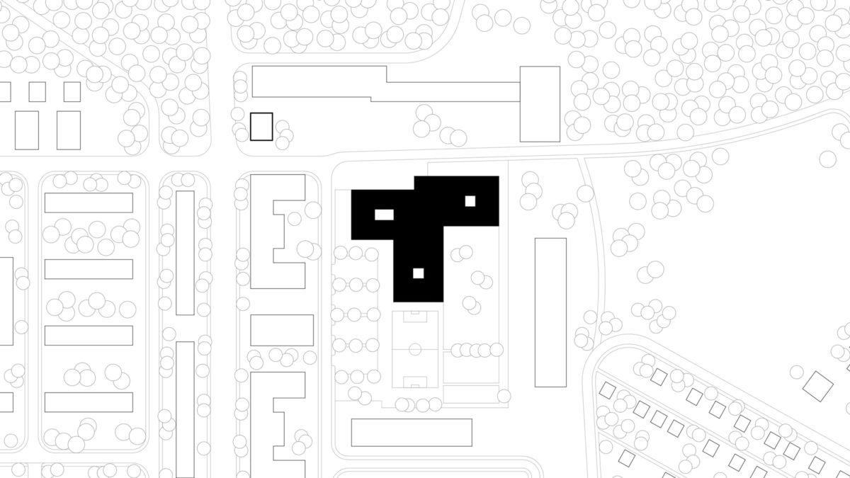 Lageplan der Grundschule am Jungfernsee, Potsam.