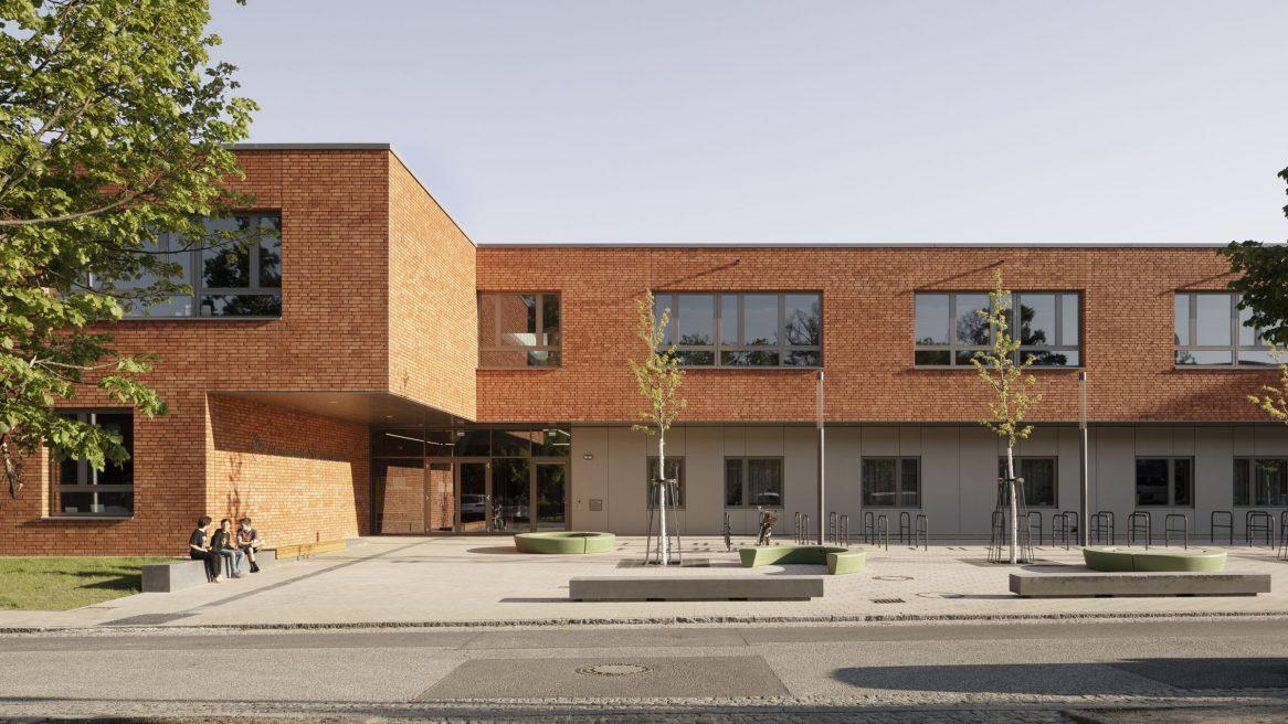 Vorplatz der Grundschule am Jungfernsee, Potsam.