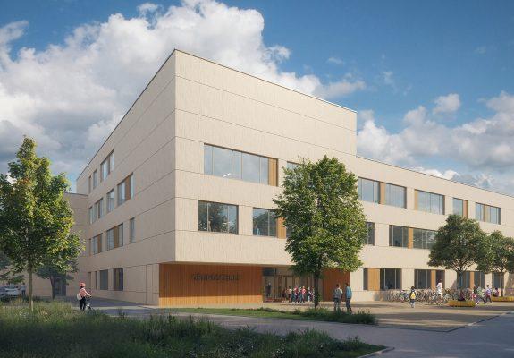 Vorplatz der Forchheimer Schule in Nürnberg.