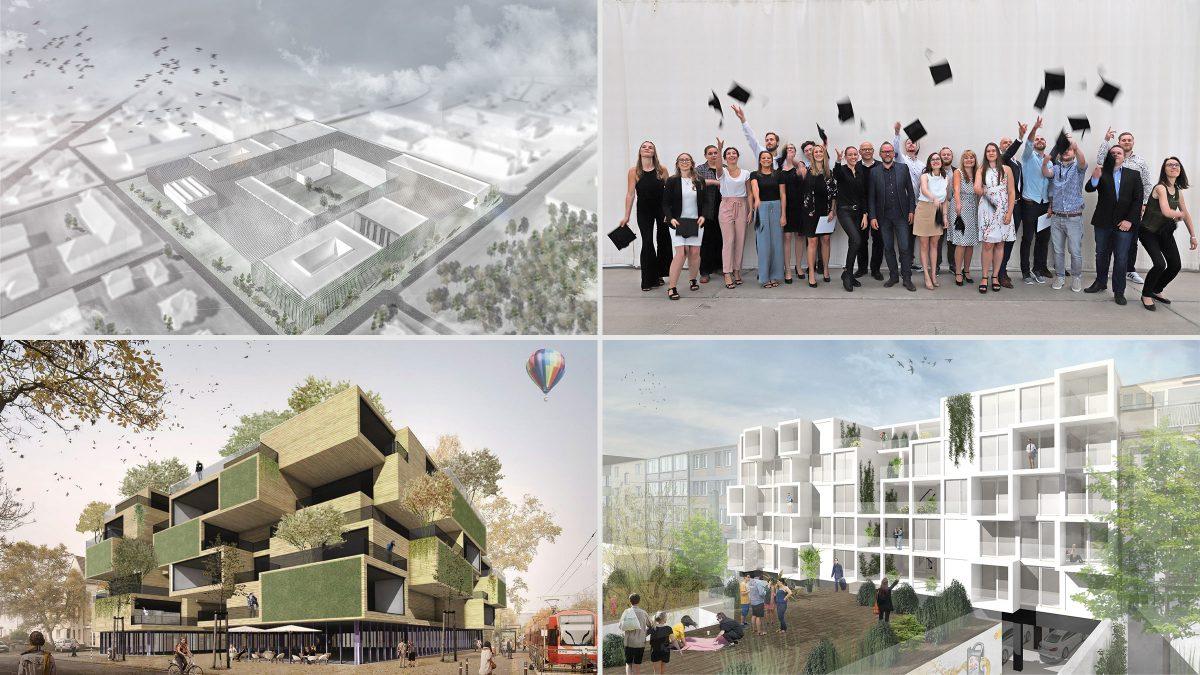 Studentenarbeiten des Masterstudiengangs Architektur:Projektentwicklung der Hochschule Bochum.