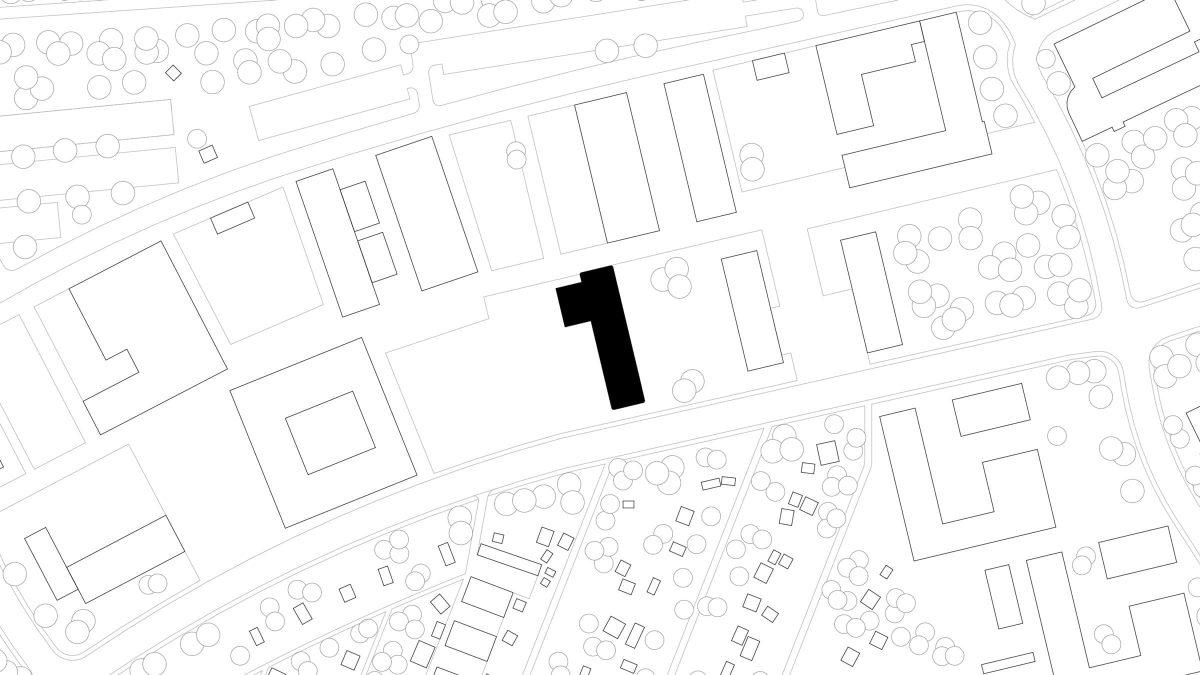 Lageplan des Neubaus des Instituts für Elektrotechnik der Universität Rostock.