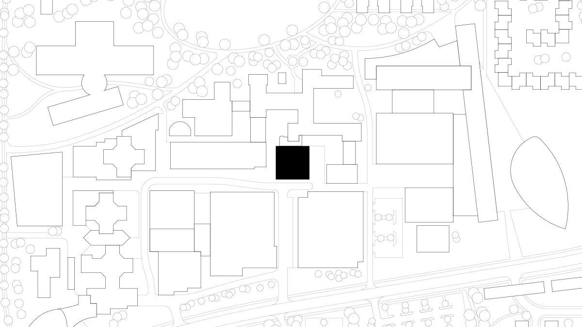 Lageplan der Cafeteria des IZS, Stuttgart.