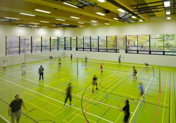 Sporthalle des Erweiterung des Instituts für Sportwissenschaften des Karlsruher Institus für Technologie in Karlsruhe.