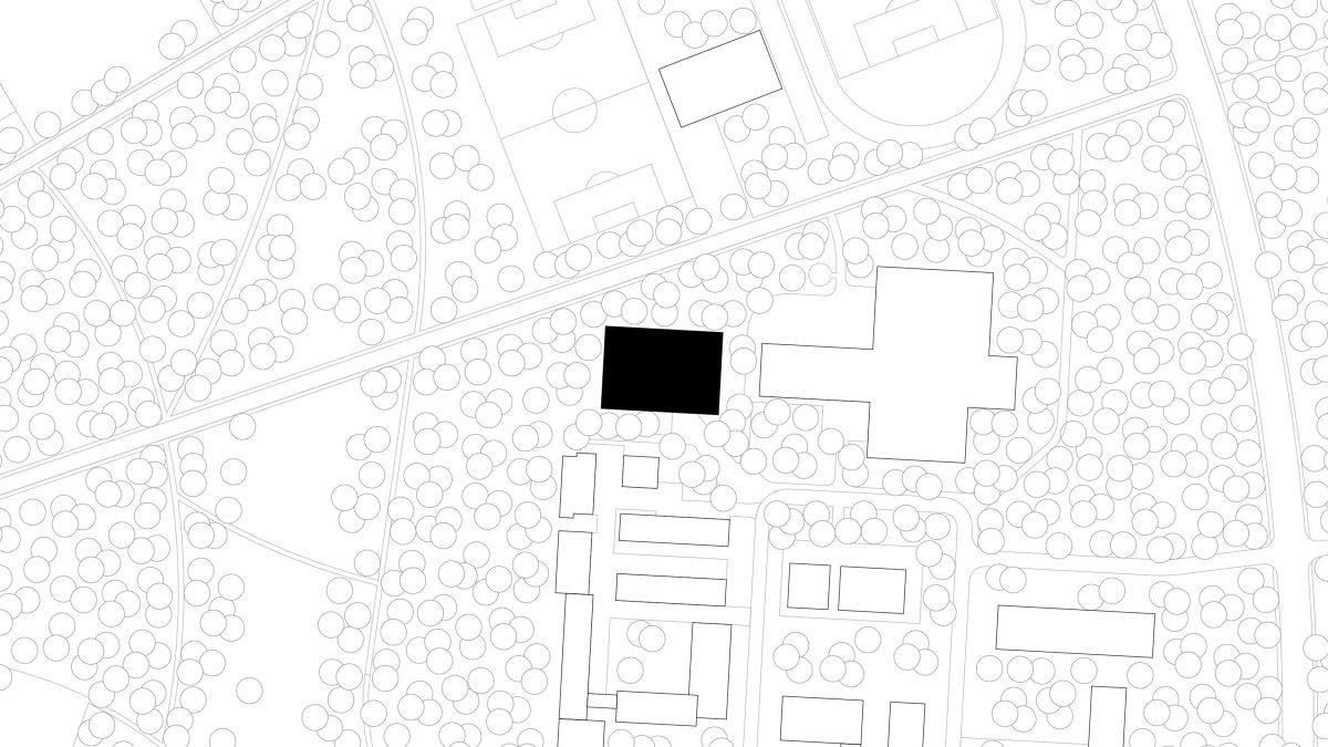 Lageplan des Erweiterung des Instituts für Sportwissenschaften des Karlsruher Institus für Technologie in Karlsruhe.