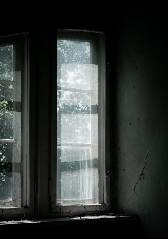 Fensterdetail in der Kurt-Tucholsky-Grundschule in Berlin.