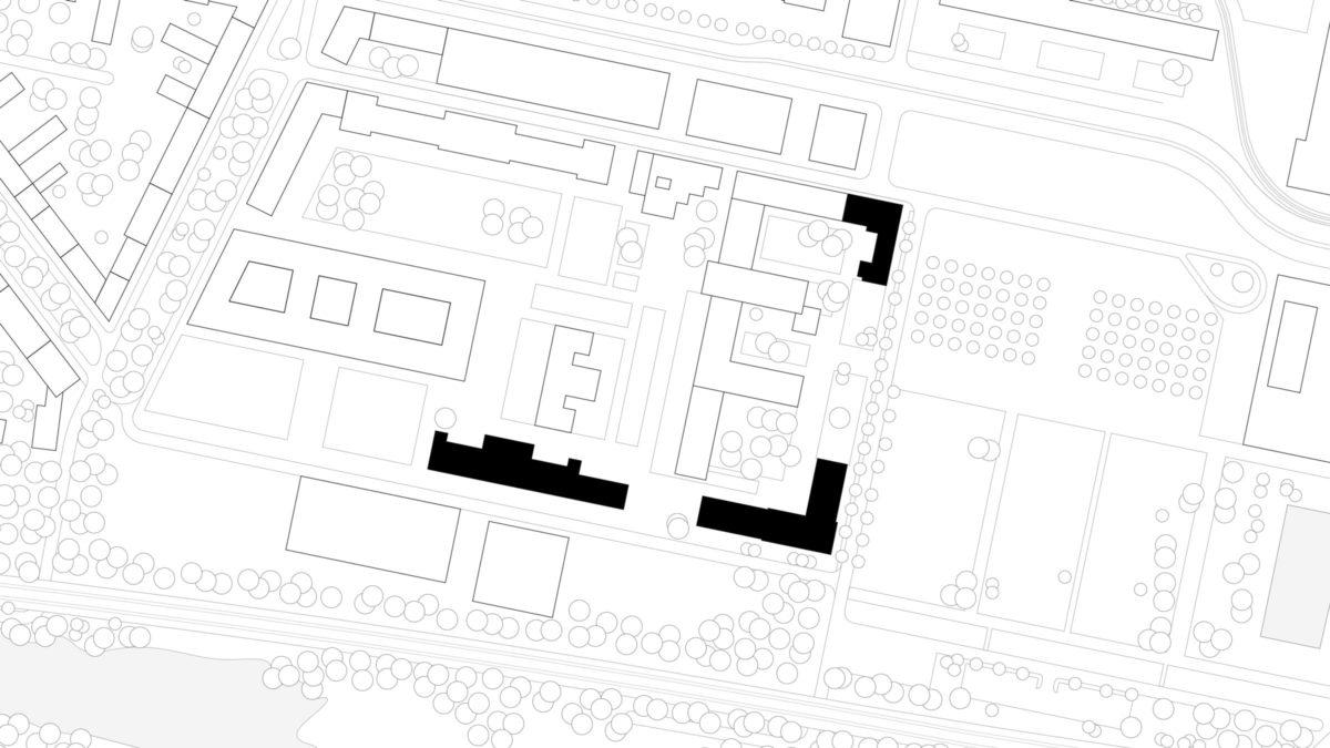 Lageplan des Ministerium des Inneren in Potsdam.