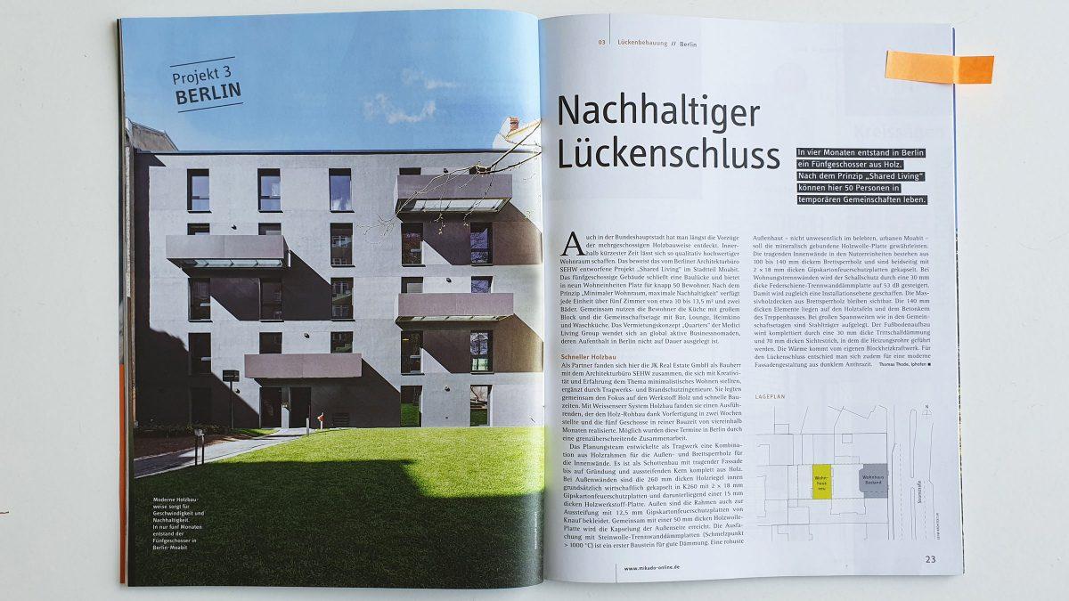 Das Projekt Shared Living von sehw architektur im Mikado Magazin.