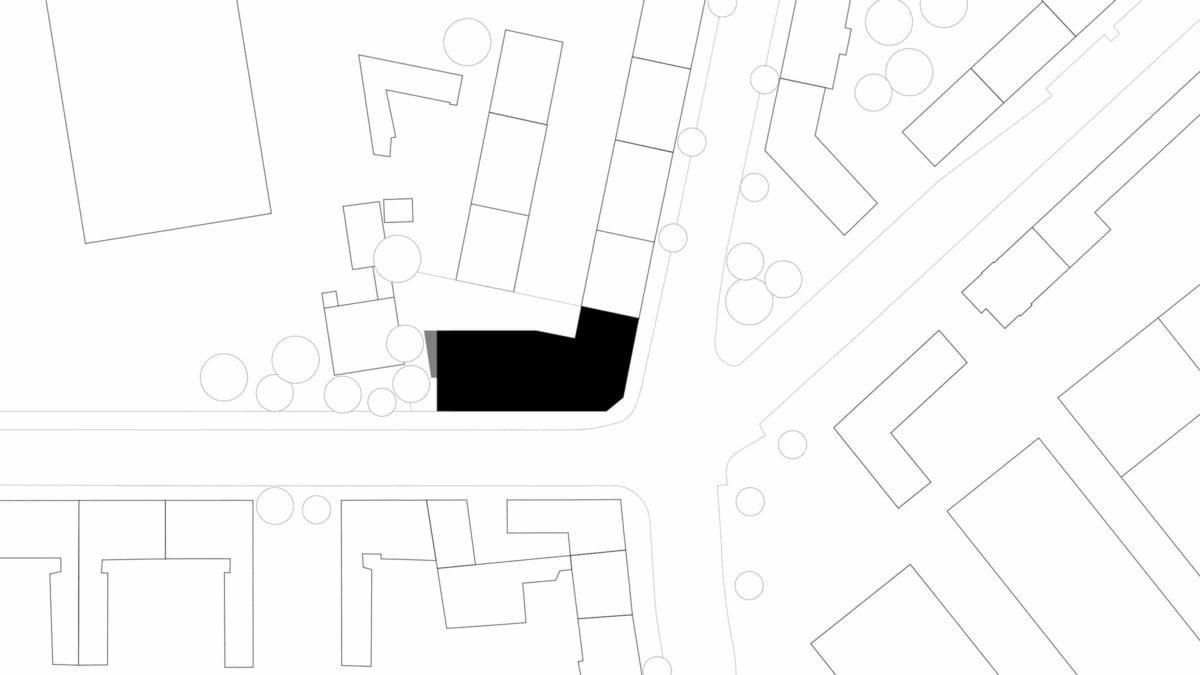Lageplan des Neubaus des Apartmentgebäude für Studenten in Berlin.