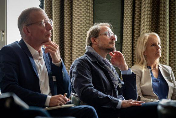 Das Publikum beim Patentreffen im Rahmen des NAX Online-Seminars 2020 im Soho House Berlin.