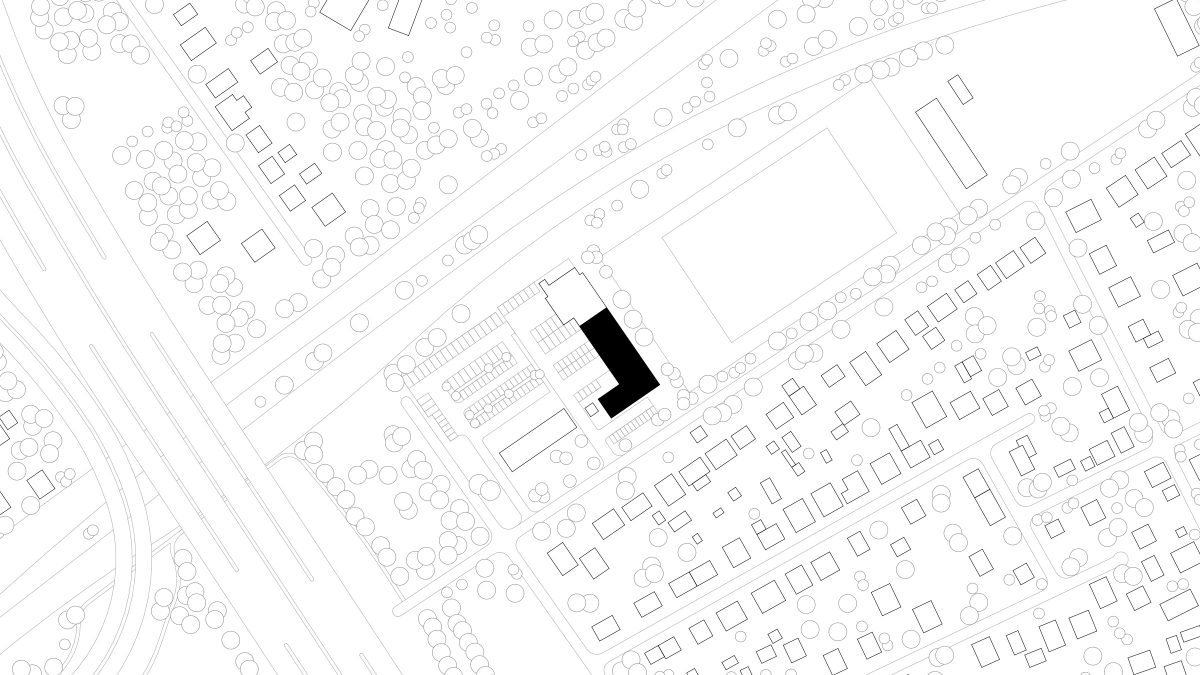 Lageplan der Polizeiinspektion auf dem Flughafen Schönefeld.
