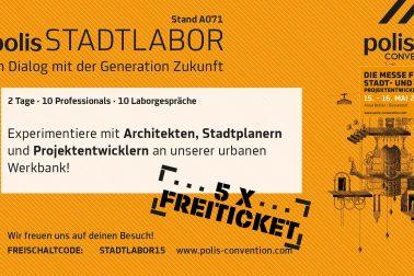 Einladung zum Polis Stadtlabor 2019 in Düsseldorf.