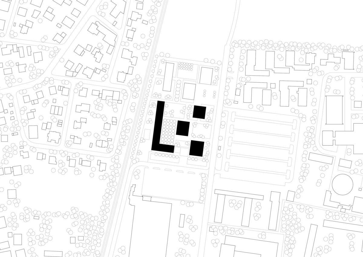 Lageplan des studentischen Wohnens in Rosenheim.