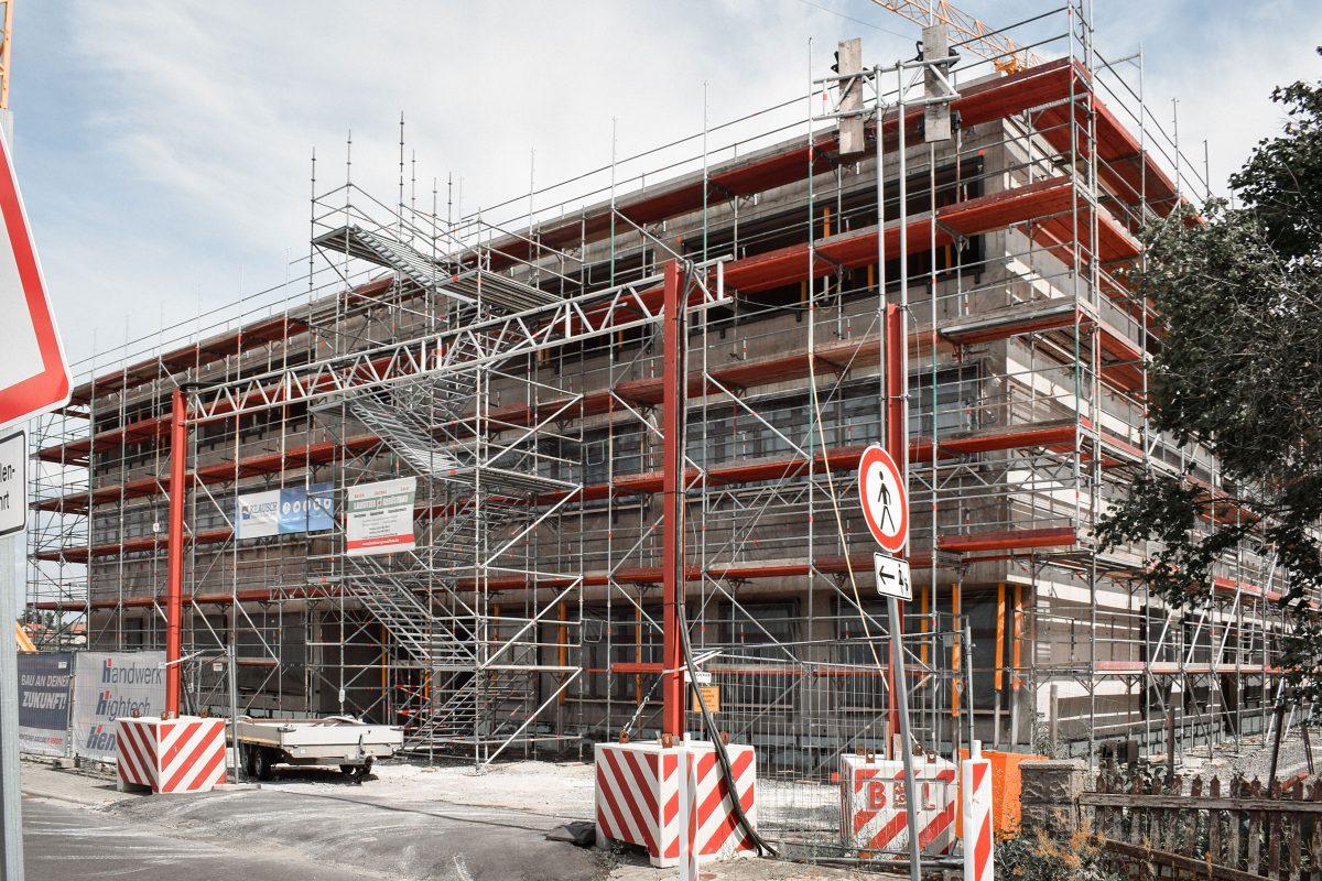 Baustelle des Neubaus des Schulzentrum Döbern.