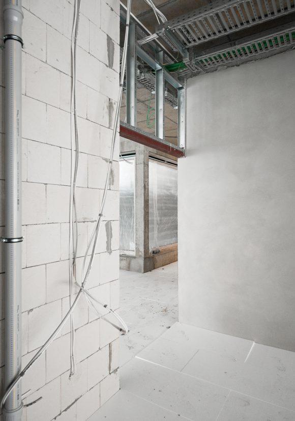 Innenaufnahme der Baustelle des Inklusiven Schulzentrums in Döbern.