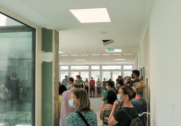 Die Gäste im Inklusiven Schulzentrum am Tag der Architektur 2021.