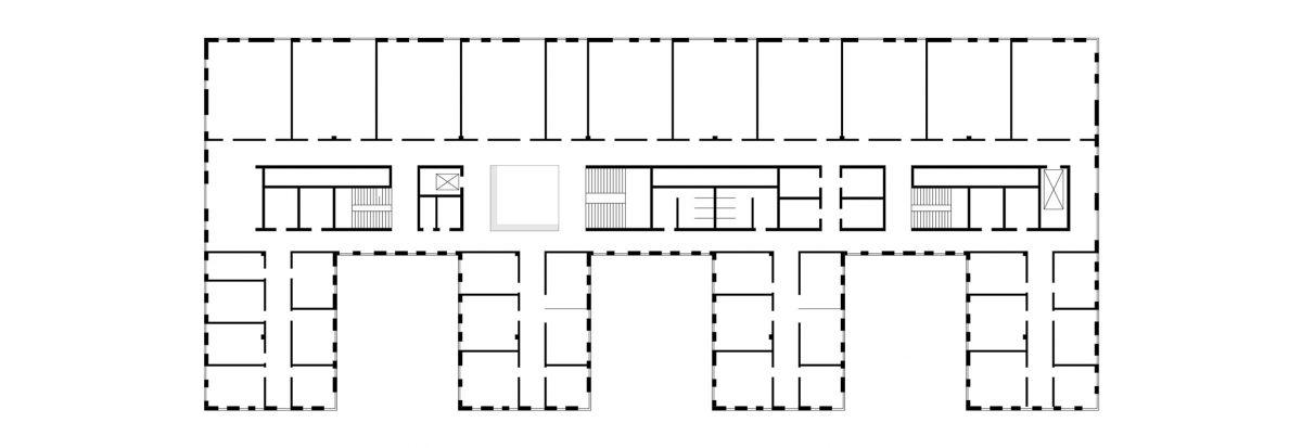 Grundriss des Neubaus des Institutsgebäudes der Chemie der TU Braunschweig.