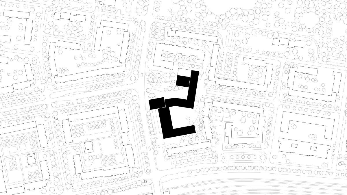 Lageplan des Quartiers Theaterplatz in Berlin Hellersdorf.
