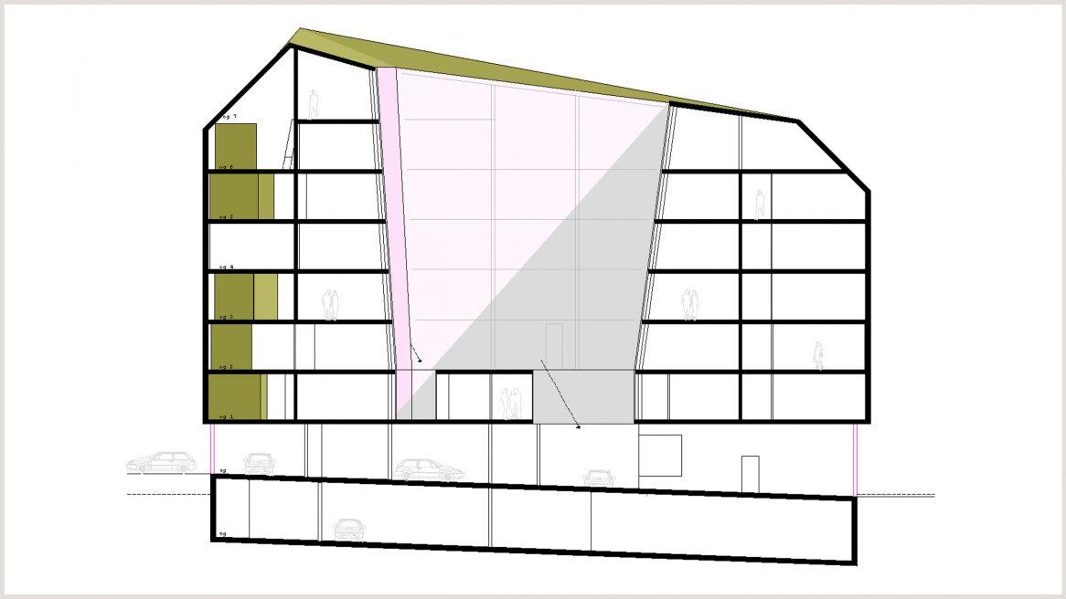 Schnitt des Projekts Wien Rettungsstelle.