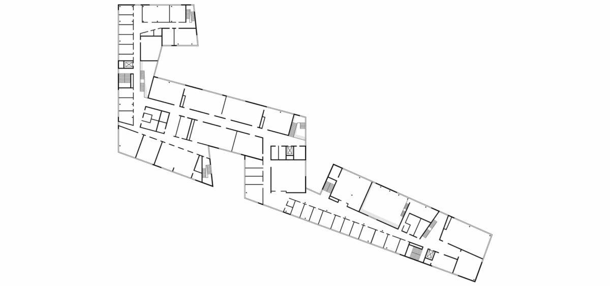 Obergeschossgrundriss der Halle 16 der technischen Hochschule Wildau.
