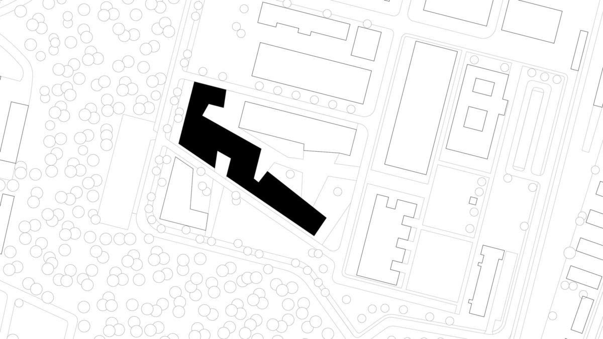 Lageplan der Halle 16 am Campus der technischen Hochschule Wildau.