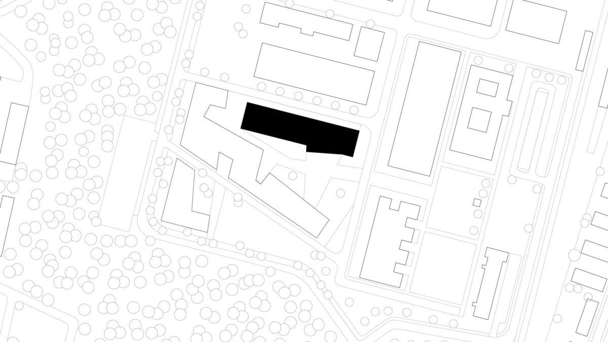 Lageplan des Hörsaalzentrums, Halle 17, der Technischen Hochschule Wildau.