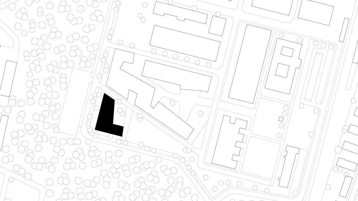 Lageplan des studentischen Wohnens am Campus der Technischen Hochschule Wildau.