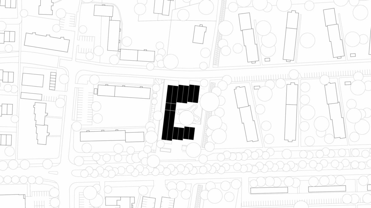 Lageplan des Begegnungszentrums und Kindertagesstätte Zuversicht in Berlin.