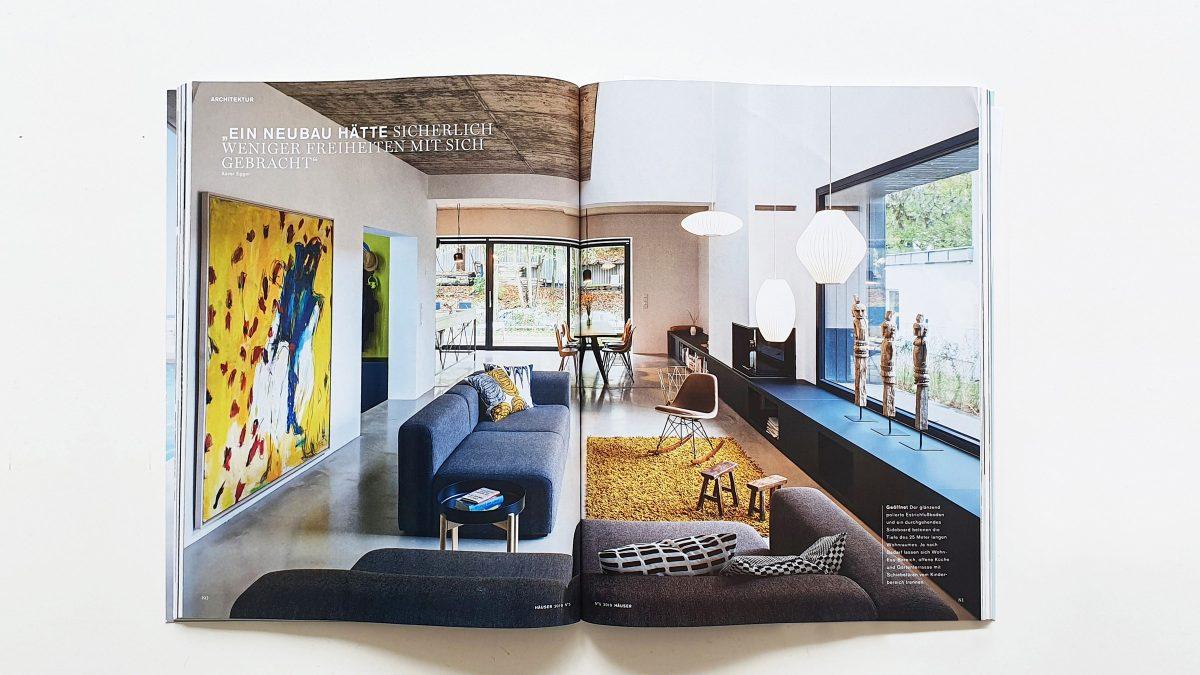 Cover mit dem Projekt A28 im Magazin Häuser.