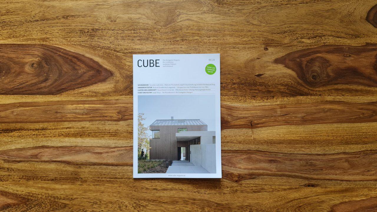 Buchcover des Cube Magazins.